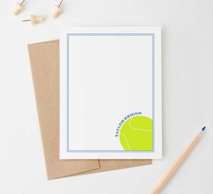 KS157 personalized tennis stationery set for boys and girls kids border modern sports sporty athletic 4
