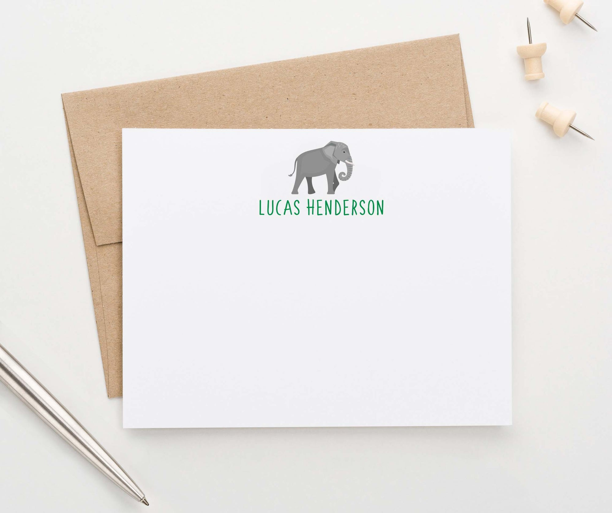 KS167 elephant personal simple stationery for kids animal zoo