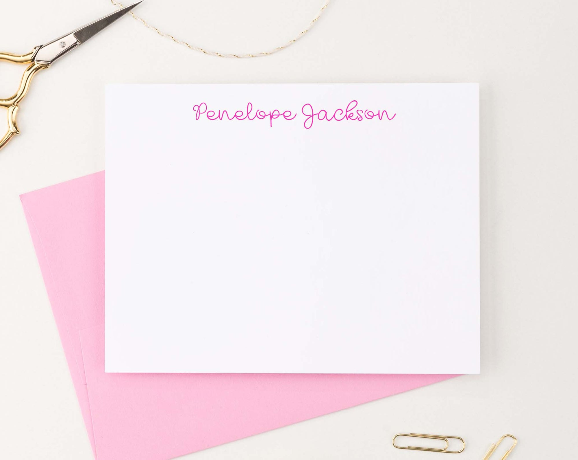 KS173 cute script stationary personalized for kid simple girls