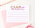 KS182 cute personalized lined camp notes for girls pink simple