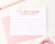 KS187 girls personalized hello from camp lined stationery a note from pink