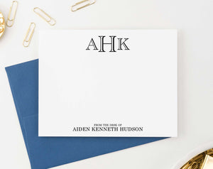 ML005 from the desk of name and monogram stationary set personalized professional classic 3 letter