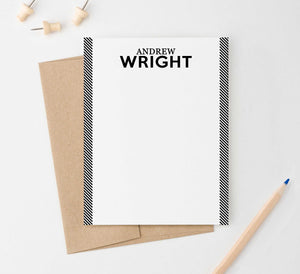 ML009 personalized name and line personal stationery for men women adults classic 1