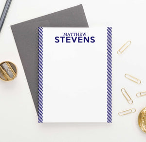 ML009 personalized name and line personal stationery for men women adults classic