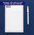 MNP07 border and 3 initial monogramed notepad for men and women stationery professional lined