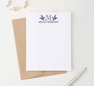 Personalized Elegant Monogramed Stationary For Adults
