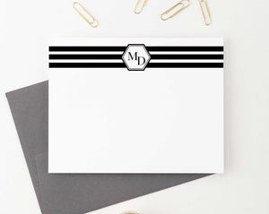 MS029 2 initial note cards set personalized men women classic monogrammed 1