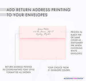 Personalized Corner Script Personal Stationery for Women