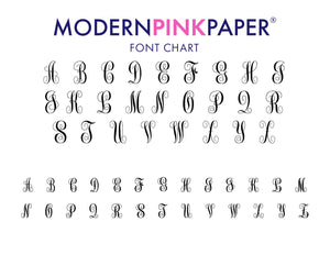 Name and 3 Letter Monogramed Stationary for Women and Men