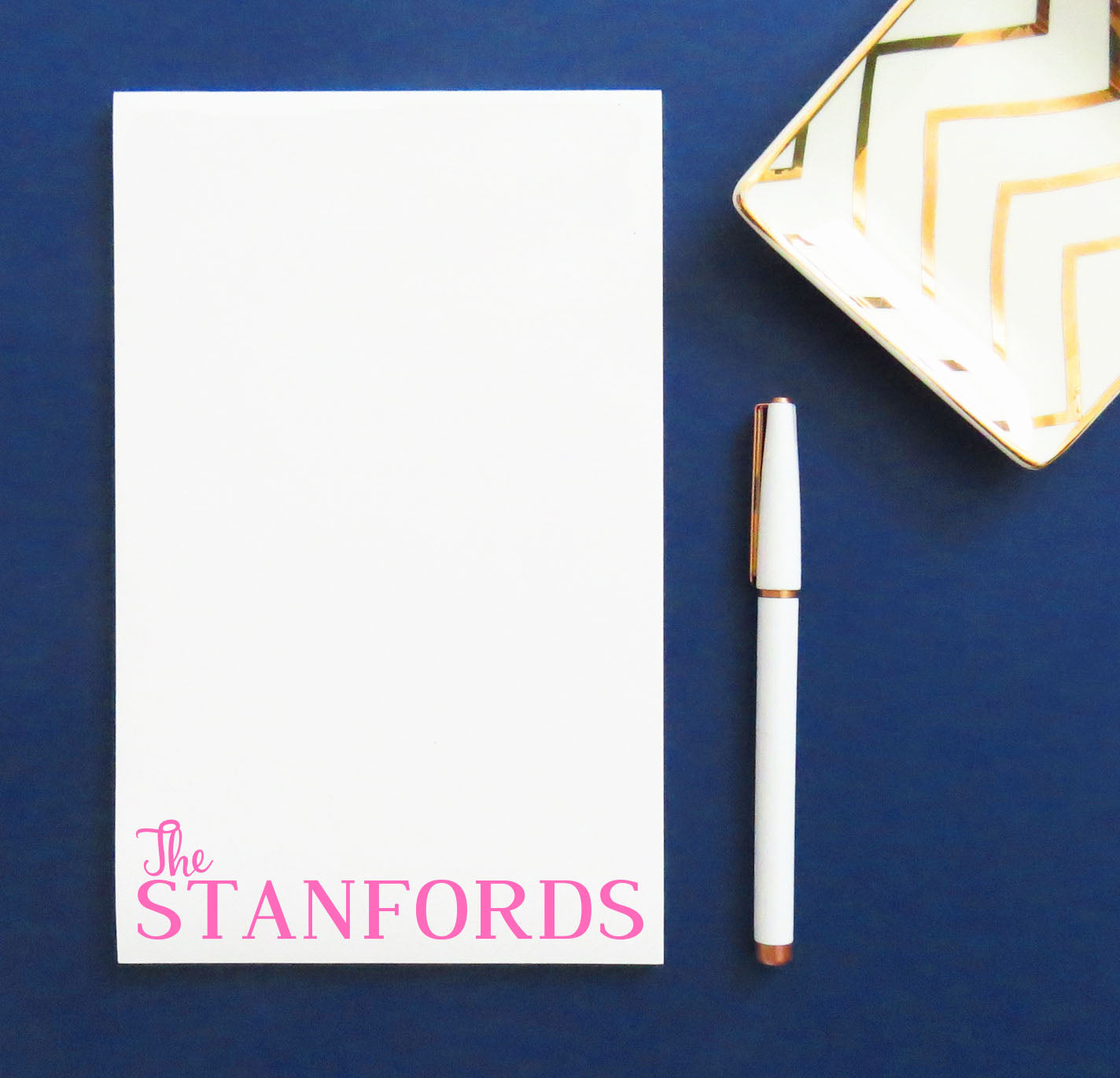NP003 lastname family personalized note pad block font paper