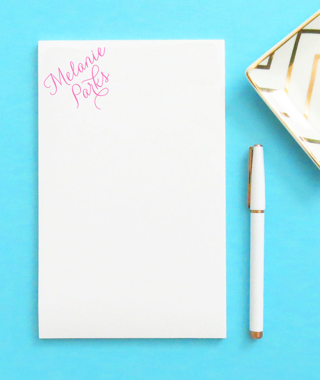 Personalized Corner Script Personalized Note Pads for Women