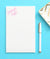 NP014 personalized corner script personalized note pads for women stationary paper 1