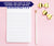 NP017 modern personalized notepads set women stationery paper lined