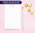 NP019 personalized name and heart note pads for kids letter writing lined