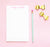 NP028 modern script personalized notepads set women letter writing 2