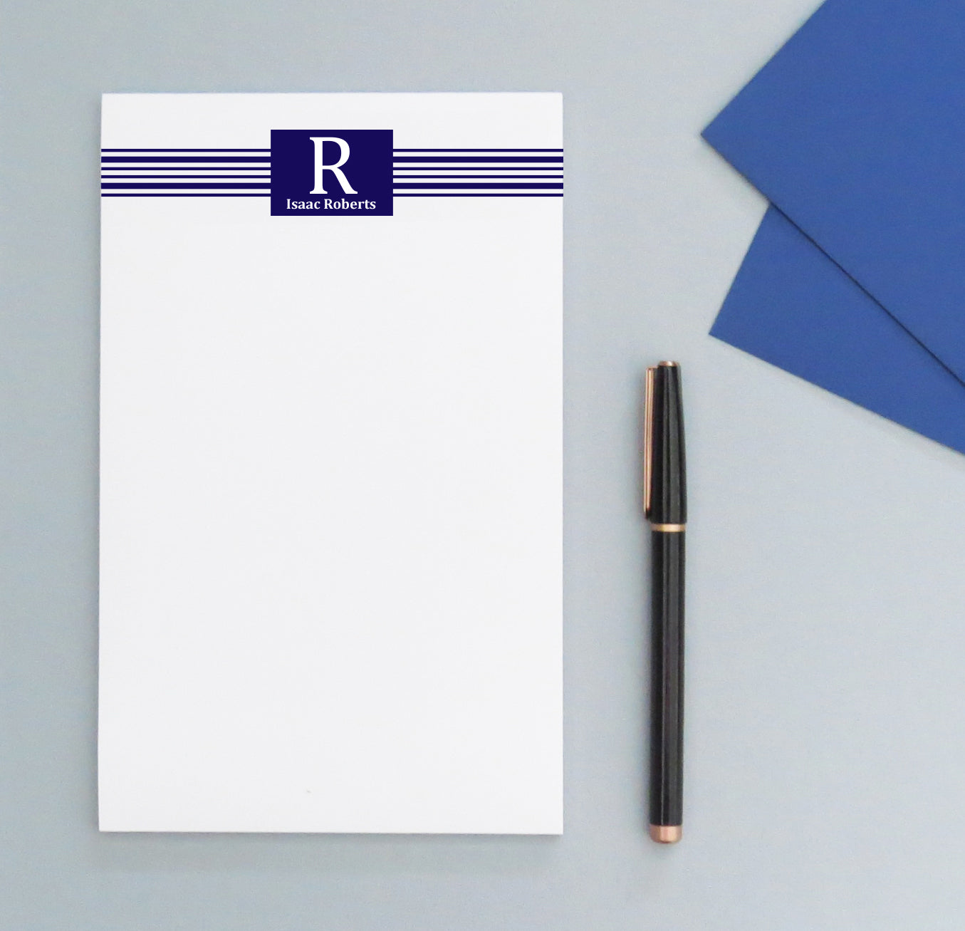 NP030 personalized name and initial monogram notepad men paper