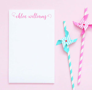 NP035 personalized cute script font note pad set elegant paper stationery