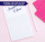 NP036 elegant personalized stationery notepad women letter writing lined