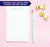 NP038 personalized cute script font kids note pads set little miss paper lined