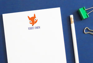 NP040 personalized fox notepads for kids animal
