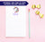 NP046 unicorn personalized notepad for kids animal script lined
