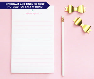 NP049 star and name personalized stationery notepads for kids letter writing lined