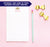 NP060 princess gold glitter crown monogram note pad for girls tiara script lined