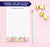 NP072 bottom floral personalized notepad for women flowers block font lined
