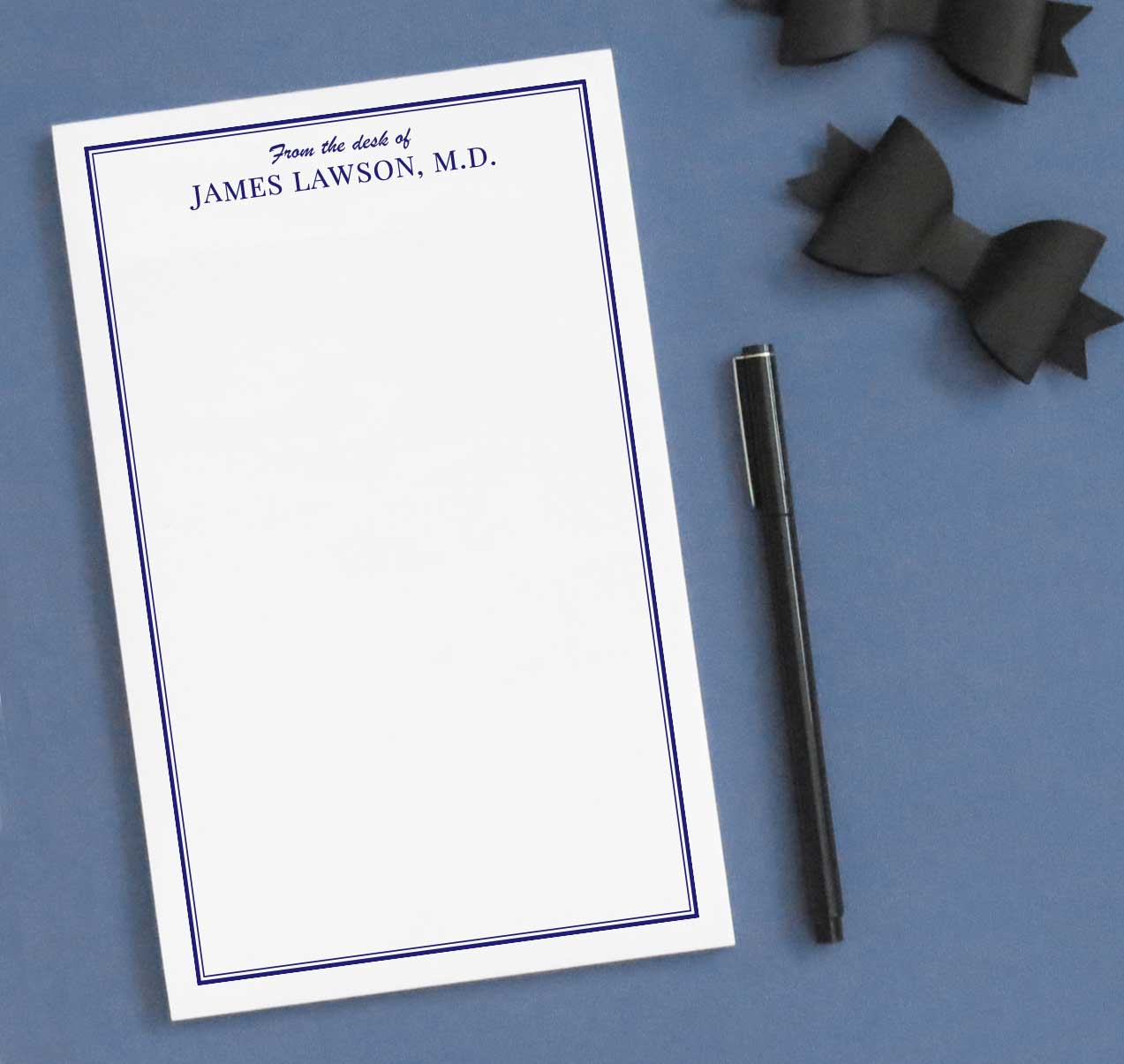 NP076 from the desk of personalized note pad for men and women letter writing stationery 1