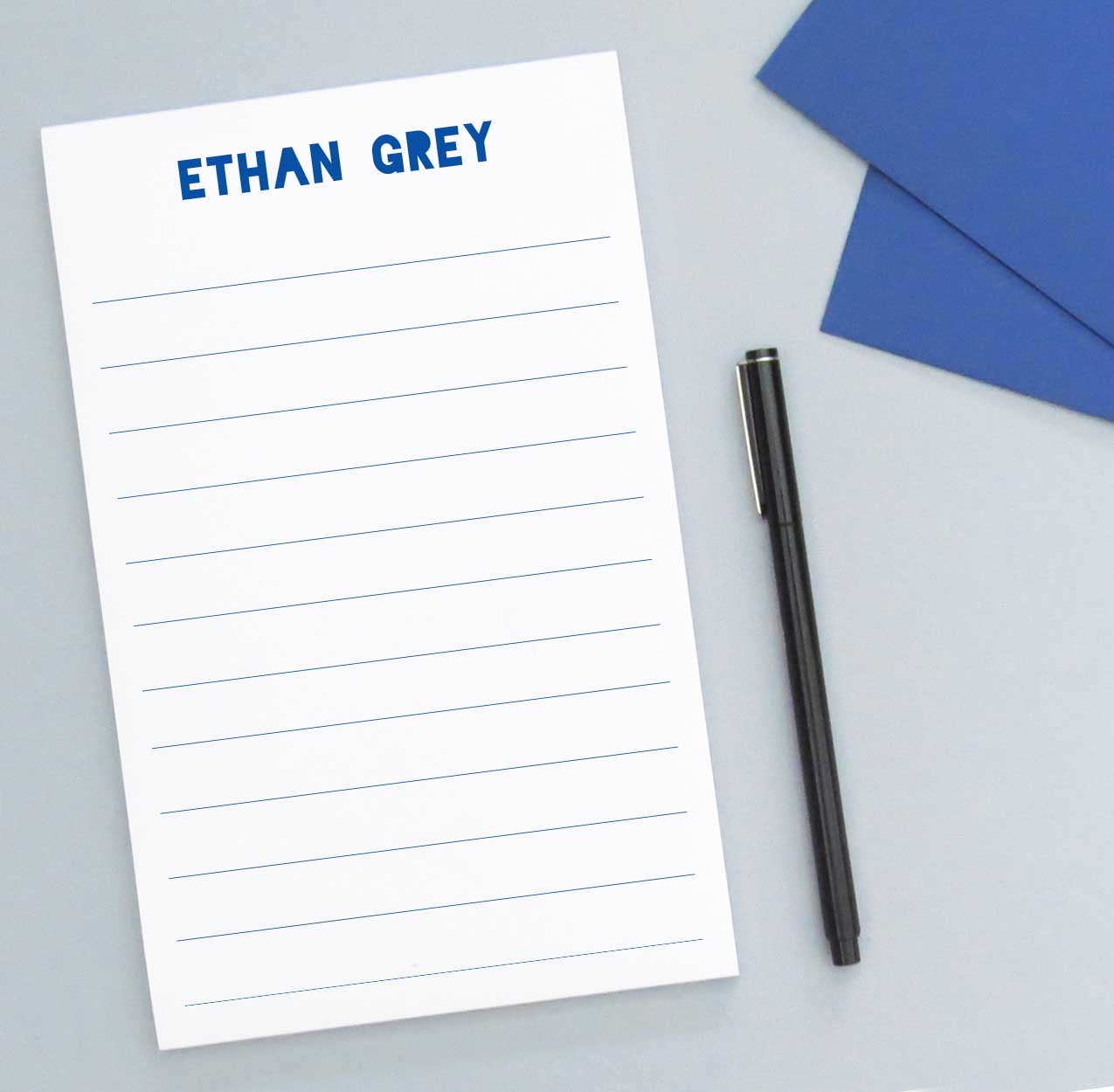 NP080 personalized simple lined kid notepad for boys lines paper stationery 1