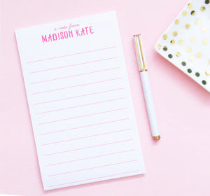 NP081 personalized lined notepads for  kids girls lines paper