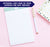NP084 modern 2 letter monogram notepads formen and women stationery writing paper lined