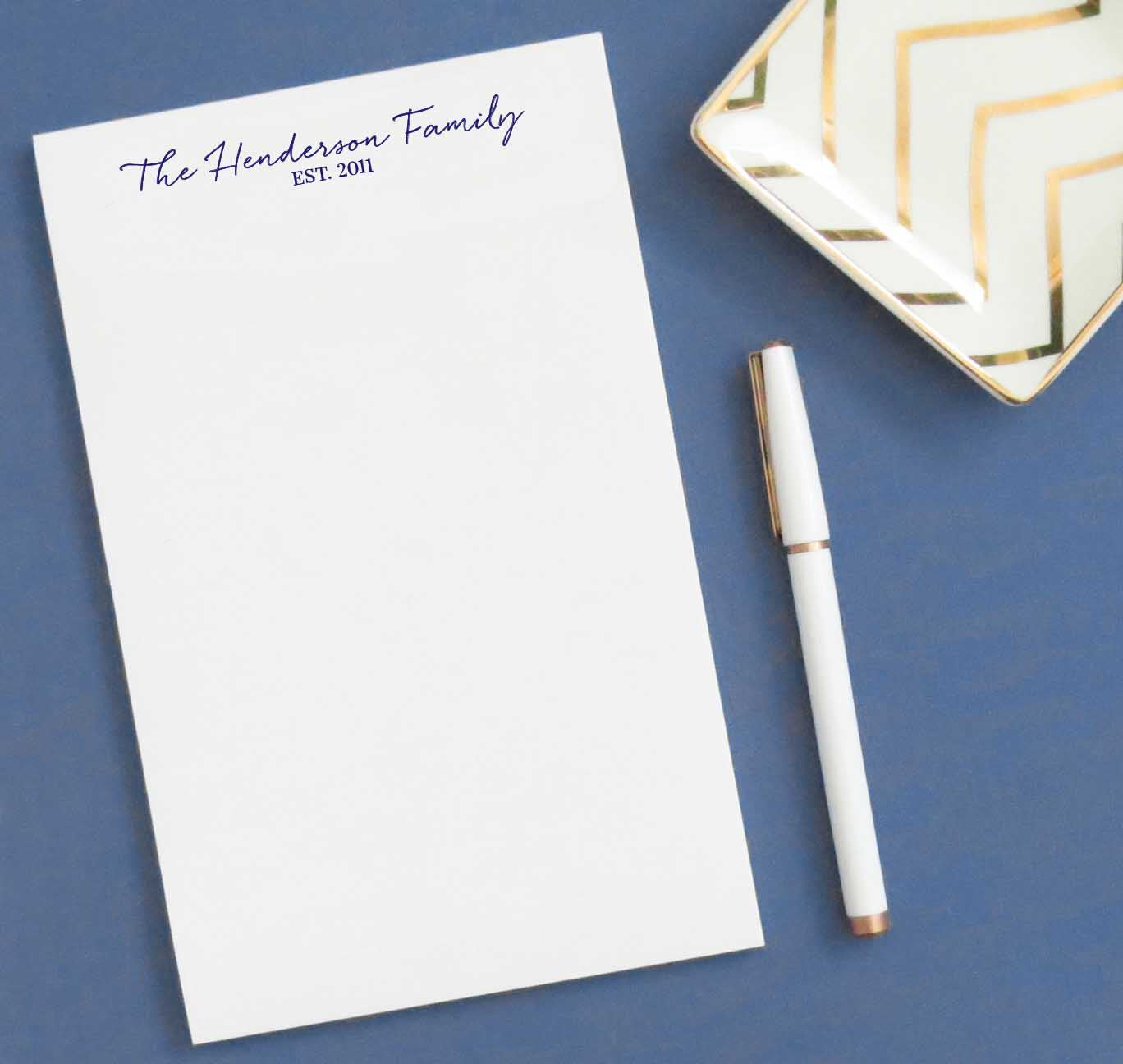 NP089 year established family notepads personalized simple stationary paper