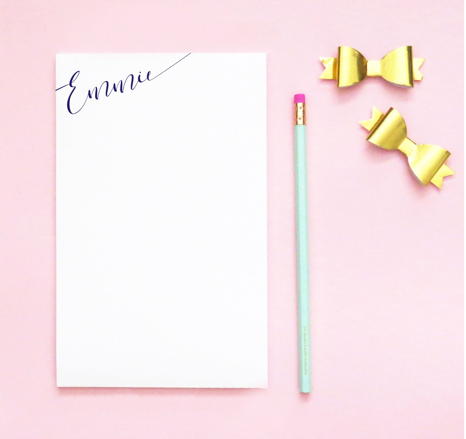 NP091 simple script notepads personalized for women letter writing paper 2