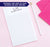 NP101 personalized modern 2 letter monogram note pads for adults writing paper lined