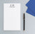 NP102 personalized 2 letter monogram notepad for women and men business professional paper 1