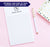 NP103 modern 1 letter monogram notepad set personalized letter writing stationery lined