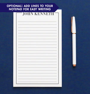 NP105 personalized name and border note pads for men and women professional writing paper lined
