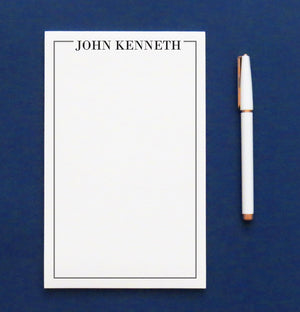 NP105 personalized name and border note pads for men and women professional writing paper