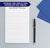 NP106 from the desk of personalized note pad for men professional letter writing lined