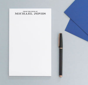 NP106 from the desk of personalized note pad for men professional letter writing