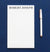 NP107 elegant block font notepad personalized for women simple stationery 1
