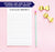 NP107 elegant block font notepad personalized for women simple stationery lined