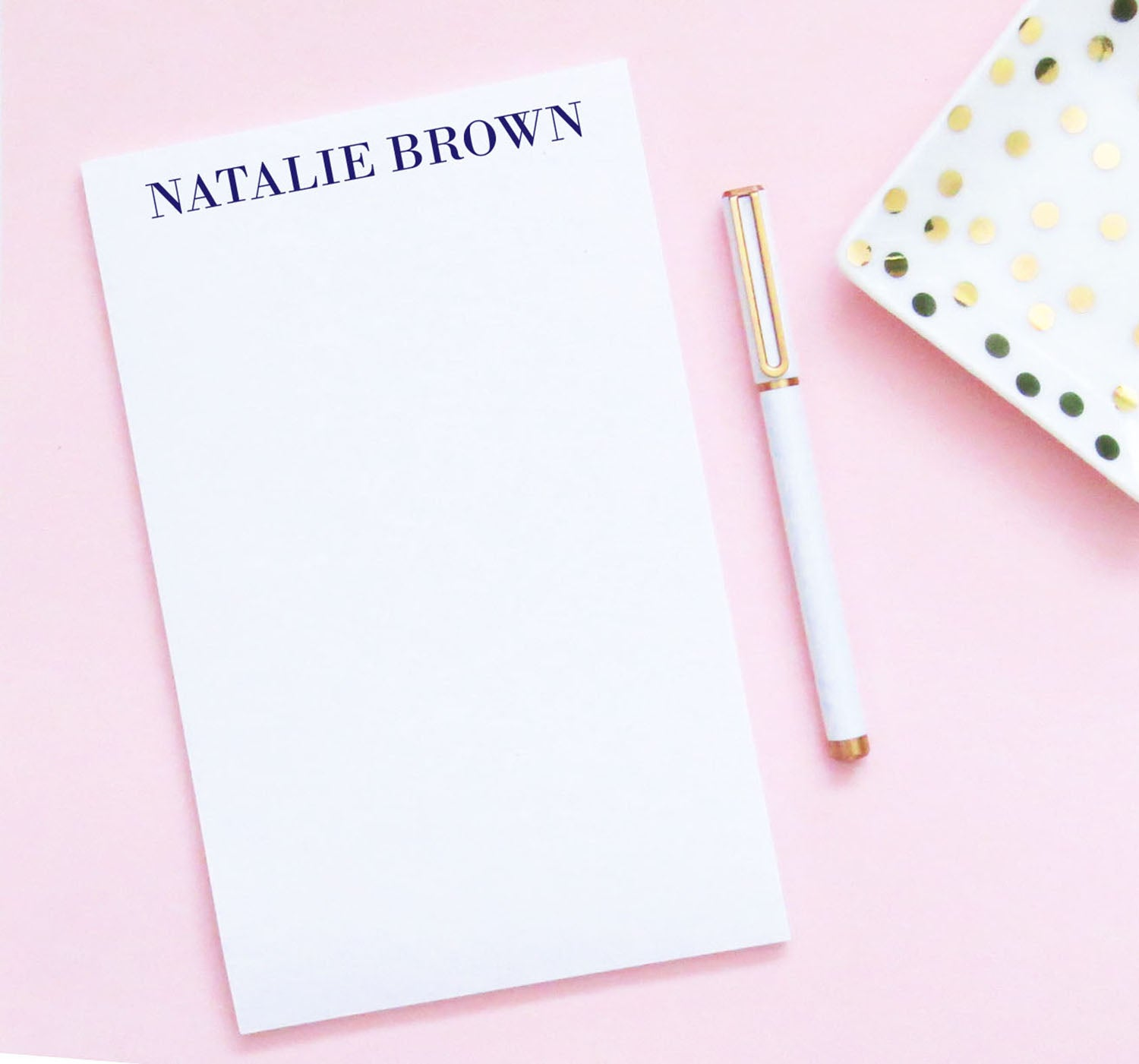 NP107 elegant block font notepad personalized for women simple stationery