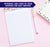 NP109 top floral note pad personalized for women florals banner stationery lined