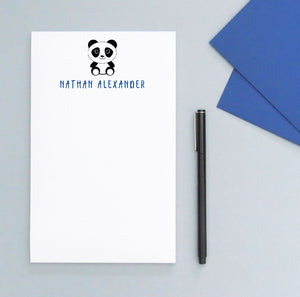 NP113 panda note pad personalized for boys and girls animal letter writing