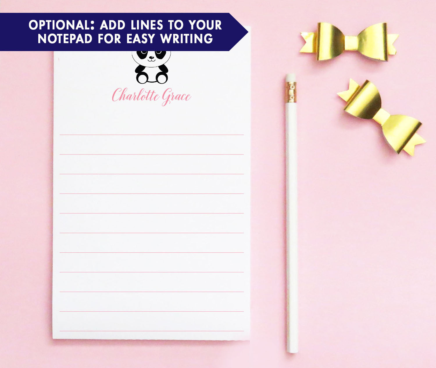NP114 cute panda note pad personalized for girls and boys animal animals paper