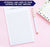 NP117 a note from note pad personalized for adults script simple paper lined