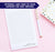 NP118 simple script note pads personalized set writing paper lined