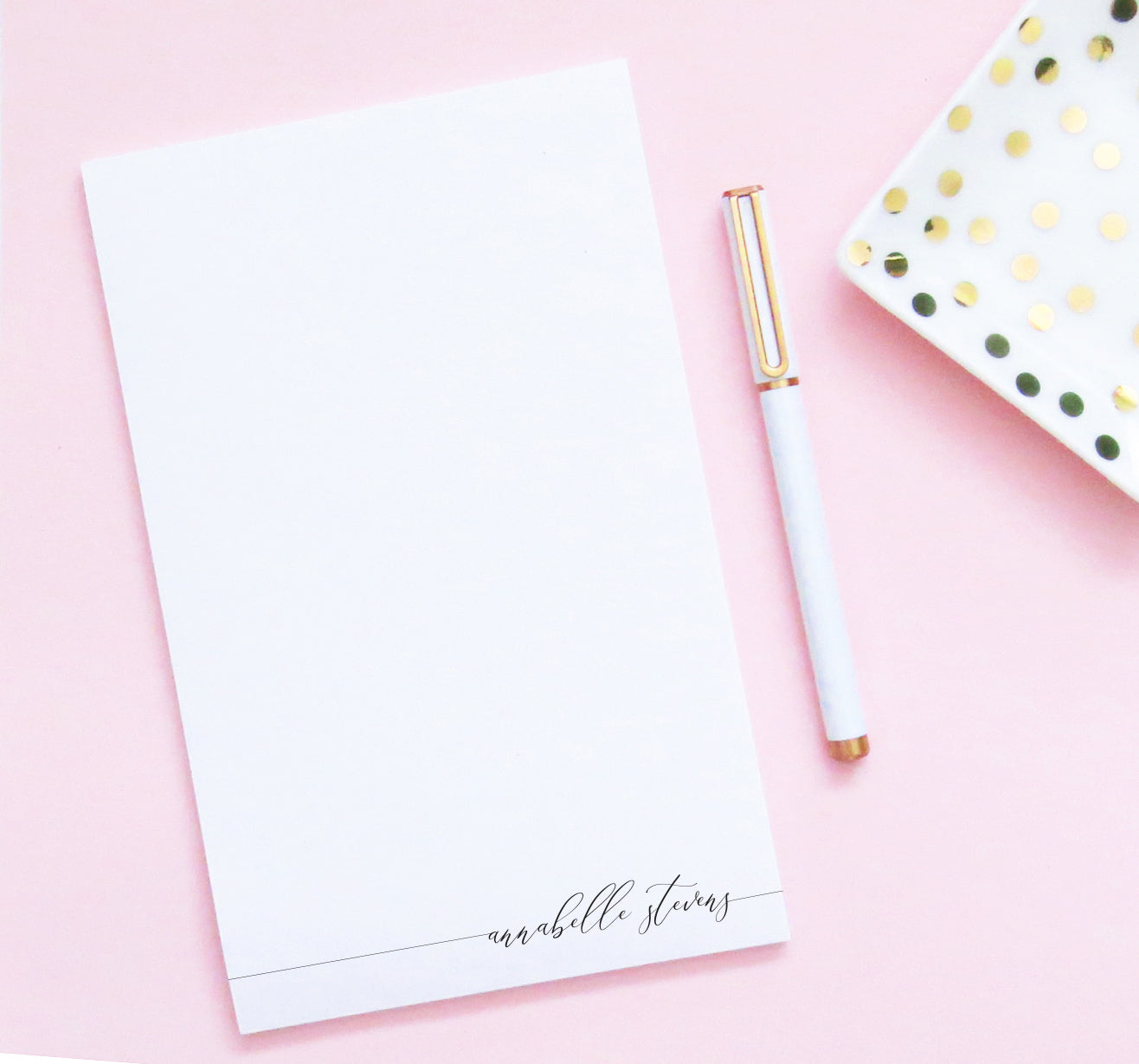 NP118 simple script note pads personalized set writing paper